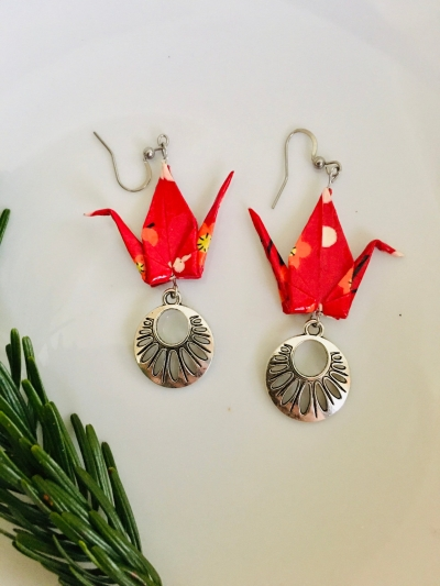 Boucles Grue origami
